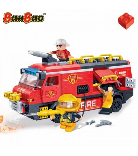 Set constructie Pompieri, camion de interventie, Banbao