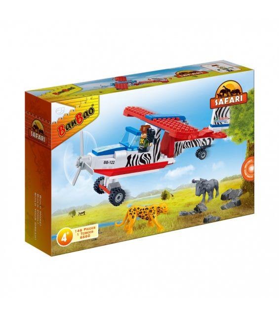 Set constructie Safari avion, Banbao